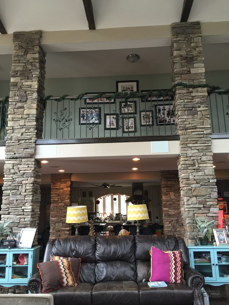 Admirable Living Room Stone Columns Done In Bucks County Southern Download Free Architecture Designs Jebrpmadebymaigaardcom