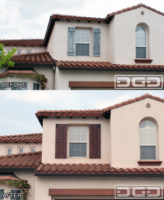 Mediterranean Style Exterior Window Shutters See The