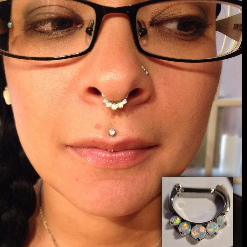 Septum Piercing With Clicker From Industrial Strength Body