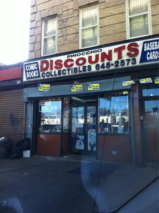 Pinocchio Discounts: 1814 McDonald Ave, Brooklyn, NY