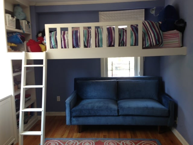 Stunning retro under loft bed sofa yelp for Furniture movers seattle