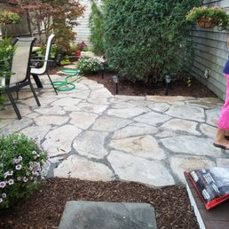 Photo Of R J Landscaping Plymouth Ma United States Finished Patio