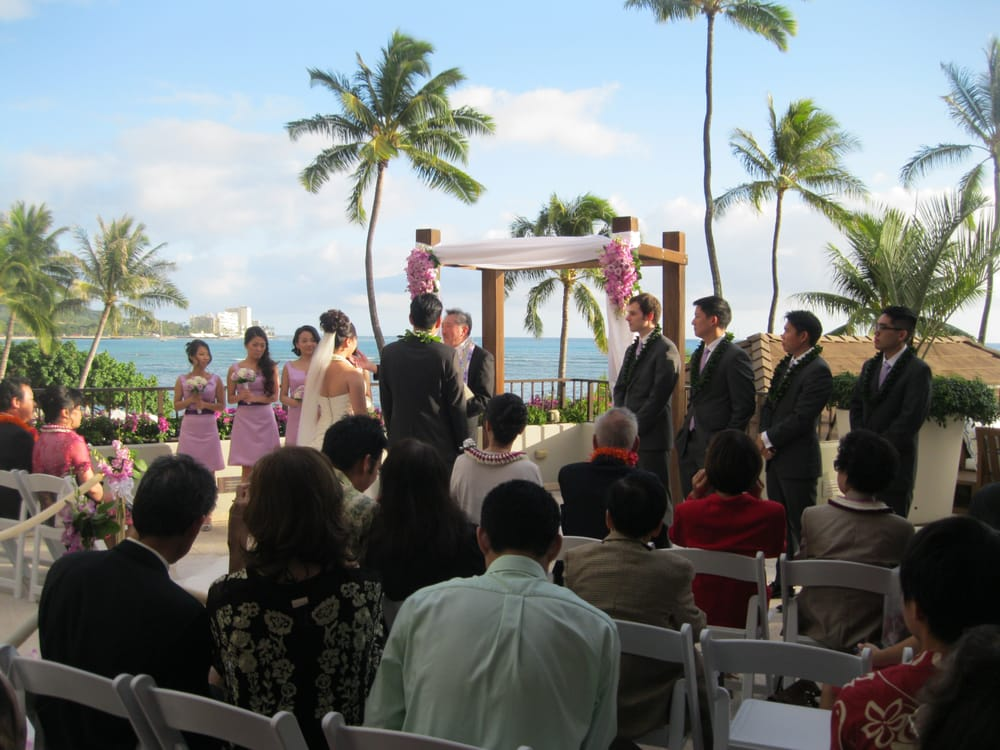 Photo Of Halekulani Honolulu Hi United States Hau Terrace Wedding At