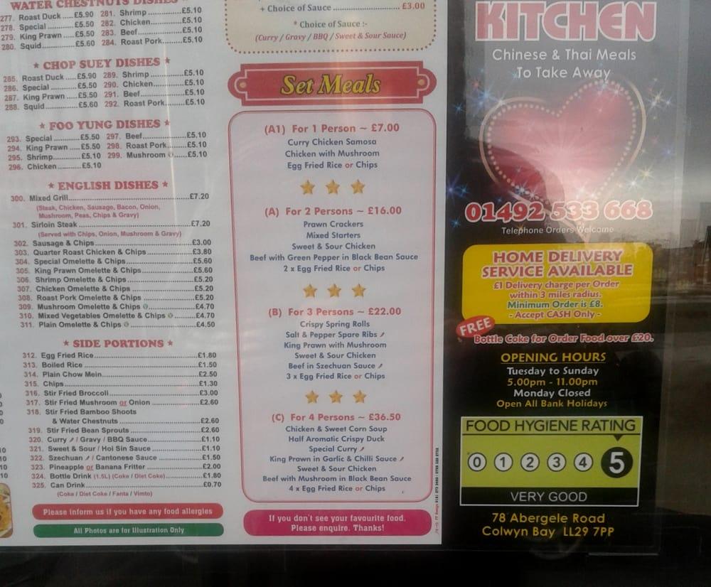 New Dragon Kitchen Chinese 78 Abergele Road Colwyn Bay