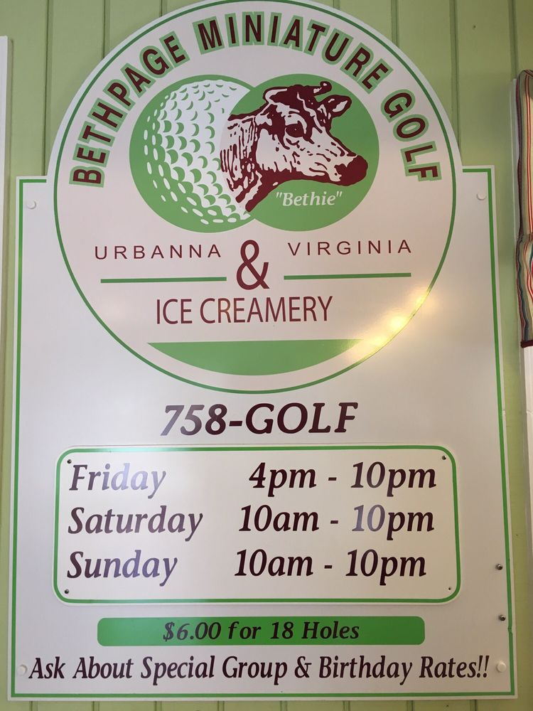 Bethpage Miniature Golf & Ice Creamery: 4817 Old Virginia St, Urbanna, VA