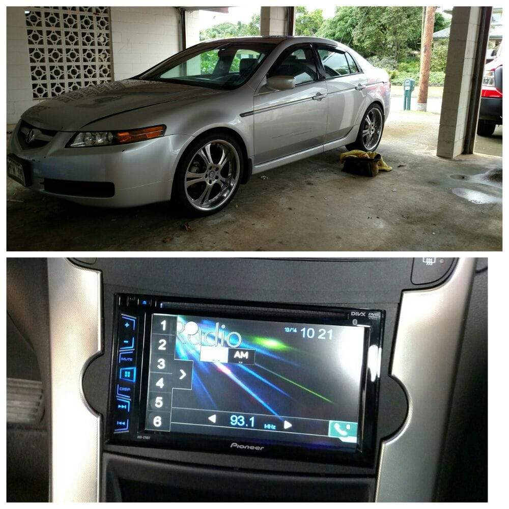 2006 Acura TL Installed Pioneer Double Din DVD