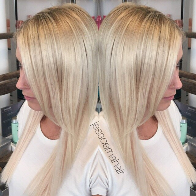 Fine Weave Full Platinum Highlights Tape In Hair Extensions