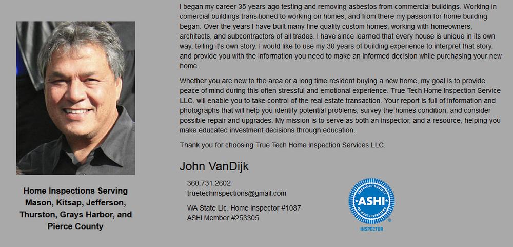 True Tech Home Inspection Service: NE 22500 Sr 3, Belfair, WA