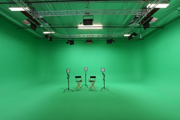 Green Screen Stage With Chairs Setup For Interview Yelp