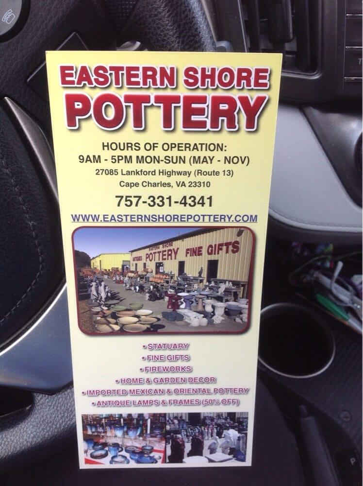 Eastern Shore Pottery: 27085 Lankford Hwy, Cape Charles, VA