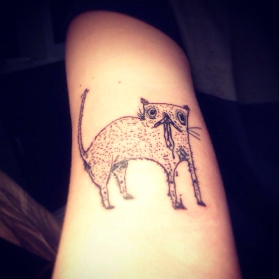 Dope cat tattoo by knarly gav yelp for Magic cobra tattoo