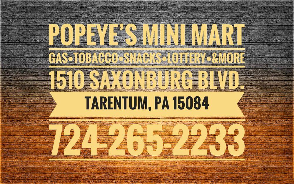 Popeye's Mini Mart: 1510 Saxonburg Blvd, Tarentum, PA