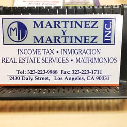 Martinez martinez tax services 2422 daly st lincoln heights photo of martinez martinez los angeles ca united states business card reheart Images