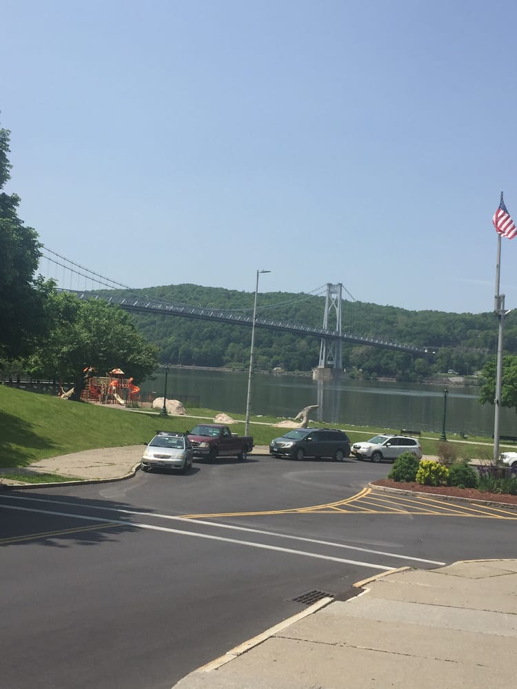 """Exterior: View Of """"Walk Over The Hudson"""" Bridge And Hudson River"""