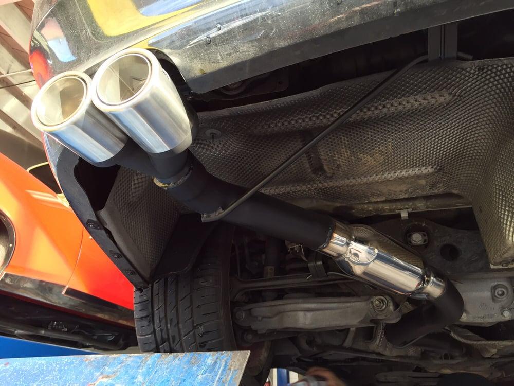 Muffler delete w/ aftermarket resonator swap on a BMW 328i