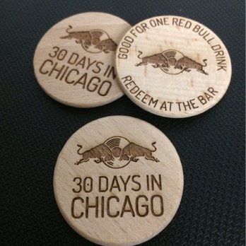 Custom Engraved Red Bull Wooden Coins Yelp