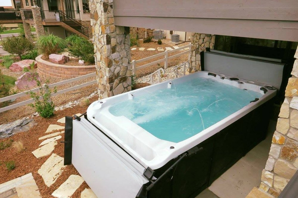 Hot Tubs, Hot Tub, Infinity Edge Hot Tub Spa, Fire Pit With Hot Tub Makes  For An Awesome Installation   Yelp