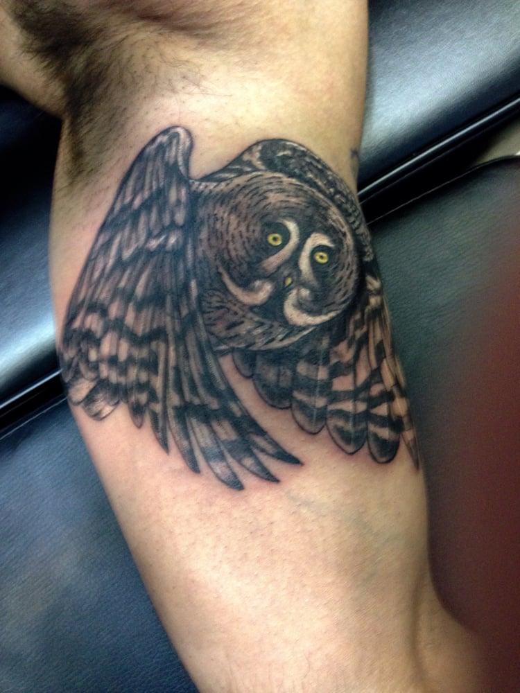 Owl On Inner Arm Tattoo Yelp