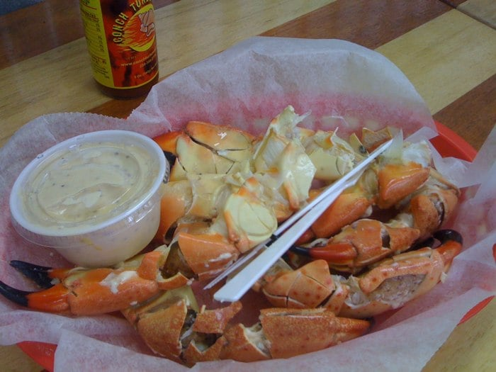 Stone crabs yelp for Key west fish market