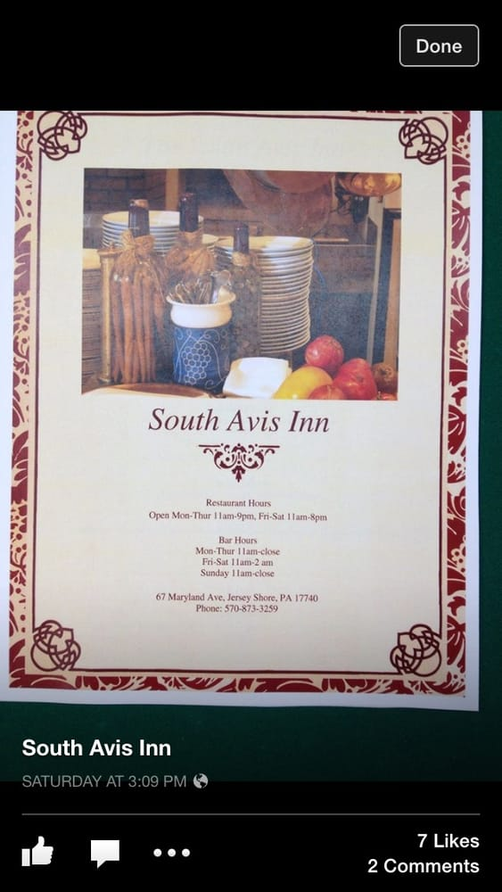 South Avis Inn: 67 Maryland Ave, Jersey Shore, PA