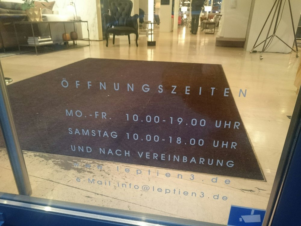leptien 3 26 photos furniture shops gro e friedberger str 29 31 innenstadt frankfurt. Black Bedroom Furniture Sets. Home Design Ideas