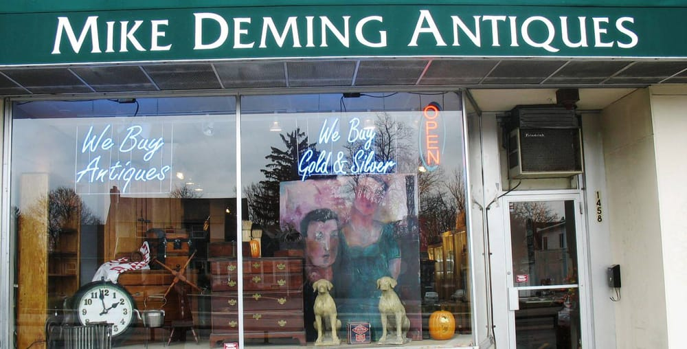 Photo of Mike Deming Antiques - Rochester, NY, United States. Sterling  Silver Rochester - Sterling Silver Rochester, Antique Furniture Rochester,Art Glass