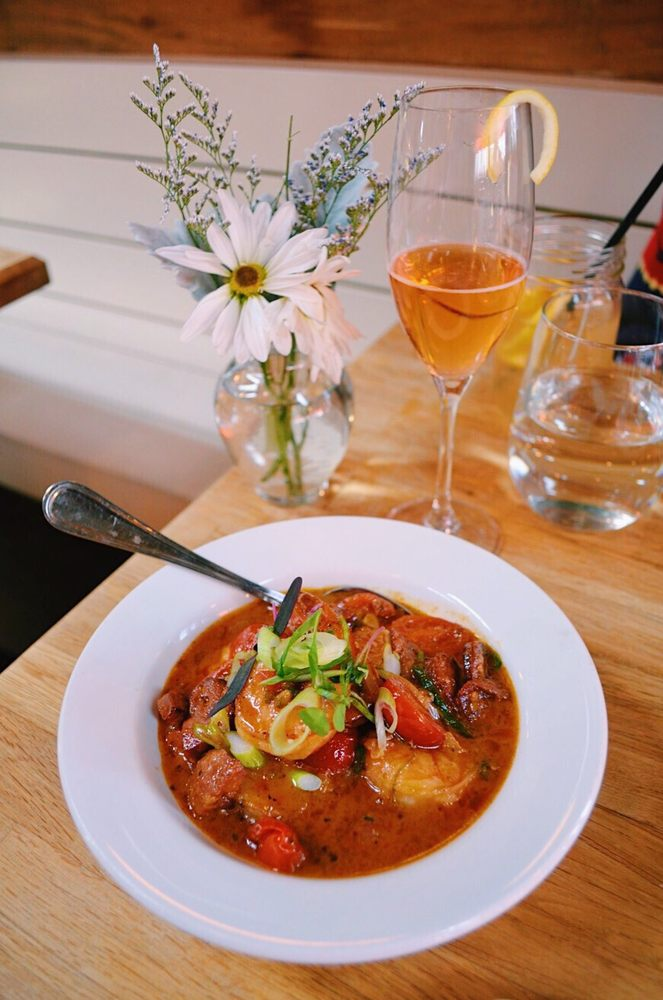 Good Food Good Mood Savory Shrimp Grits Topped Off With