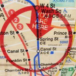 Nyc Subway Map A C E.Mta Spring Street Subway Station C 13 Photos Public