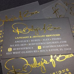 Rubys of boca jewelry 8221 w glades rd boca raton fl photo of rubys of boca boca raton fl united states our new our new business cards reheart Gallery