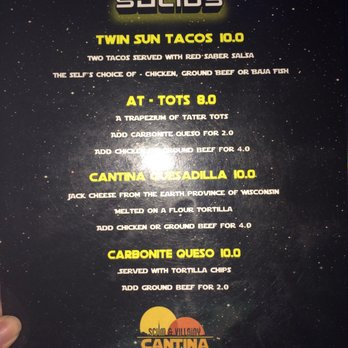 Scum villainy cantina 329 photos 252 reviews bars for The menu moss eisley canape