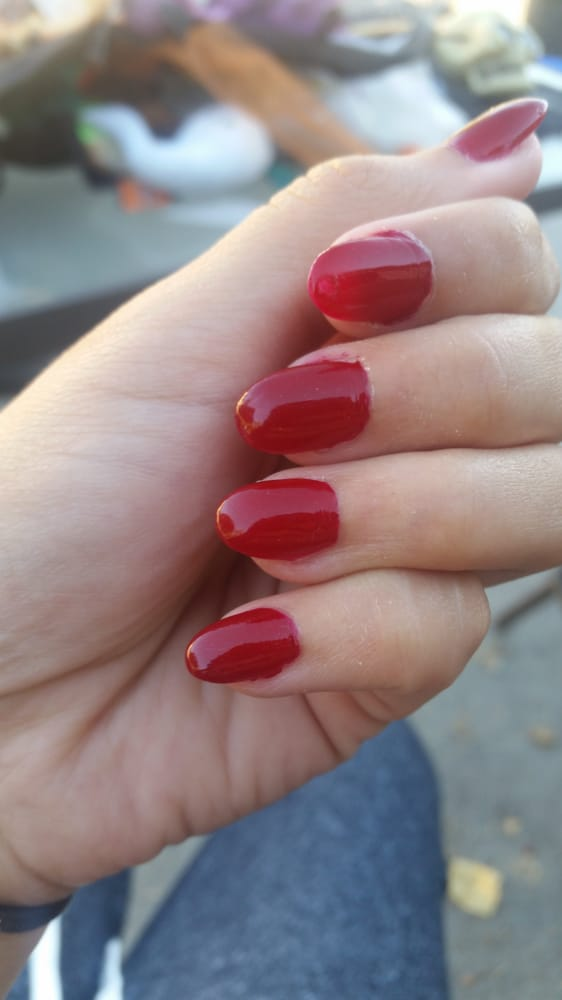 They didn\'t bother to fix my nail polish my nails are crooked over ...