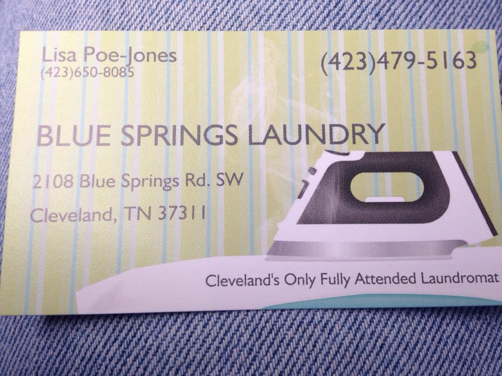 Blue Springs Laundry: 2108 Blue Springs Rd SE, Cleveland, TN