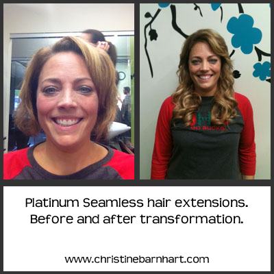 Before and after pic of platinum seamless hair extensions yelp add photos photo of christine barnhart at studio elements columbus oh united states before pmusecretfo Choice Image