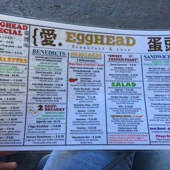 Egghead Cafe Menu Honolulu