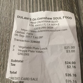 Dulan S On Crenshaw Soul Food Restaurant Los Angeles Ca