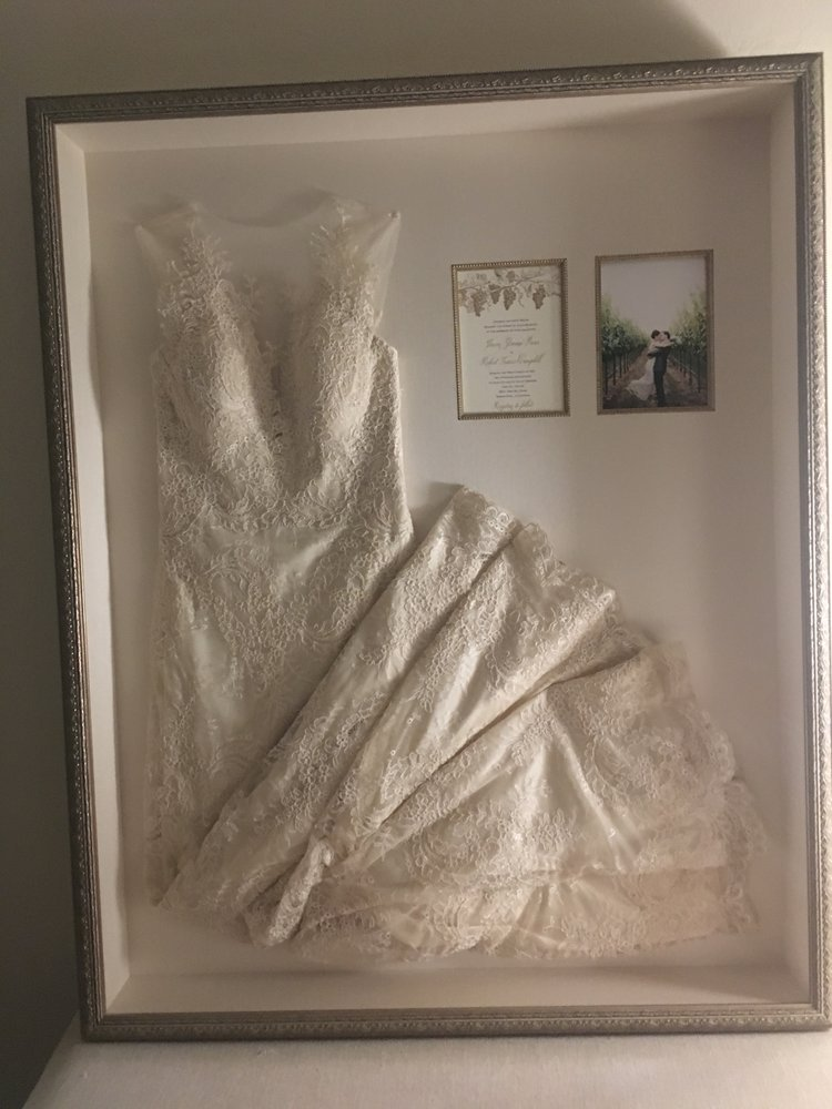 Wedding dress in shadow box - Yelp