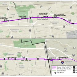 Chester Valley Trail Map on