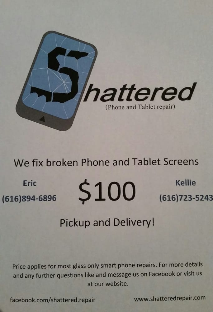 Shattered Phone and Tablet Repair: 8588 Storey Rd, Belding, MI