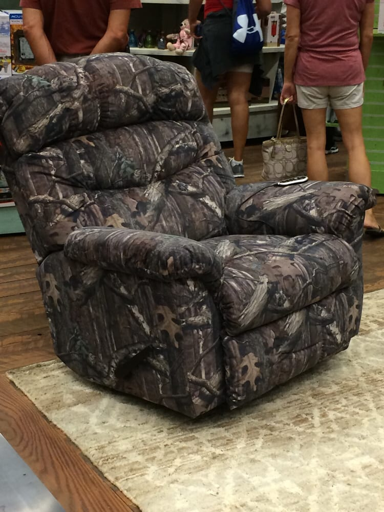 Here We Have A Camouflage Recliner For The Lazy Hunter