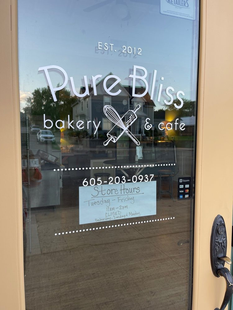 Pure Bliss Bakery & Cafe: 107 W Capitol Ave, Pierre, SD