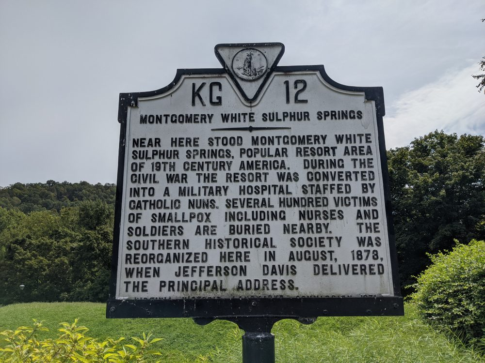 Montgomery White Sulphur Springs Historical Marker: I-81, Elliston, VA