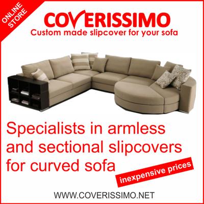 Photo Of Coverissimo Custom Slipcovers Eatontown Nj United States Curved Sectional Sofa