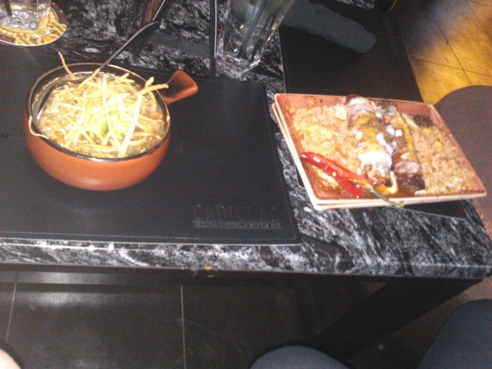 Tortilla soup & enchiladas on an awkward coffee table 6
