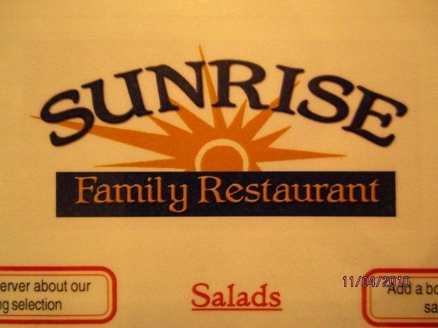 Sunrise Family Restaurant 1052 W Main St Stoughton Wi