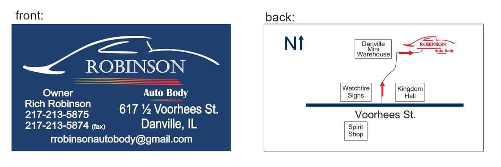 Robinson Auto Body: 617 E Voorhees St, Danville, IL