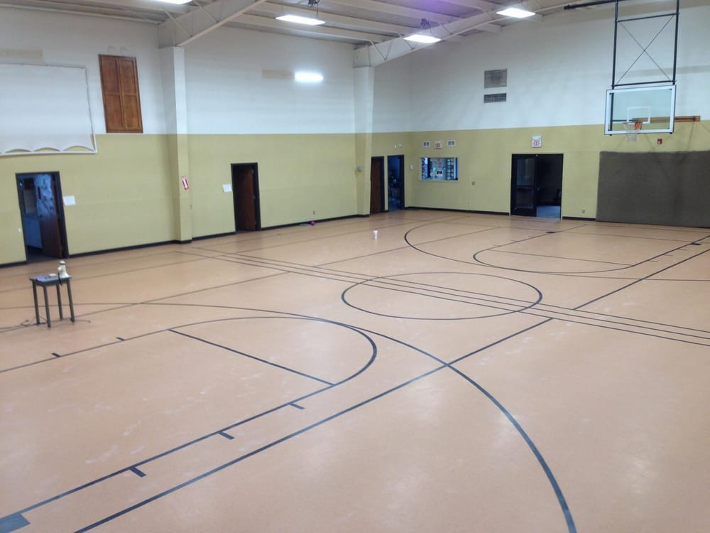 We Also Do Commercial Work Check Out This Gym Floor Recently - Commercial flooring okc