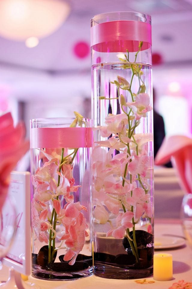Demdrobium Orchid Inside Vases For Table Centerpieces Yelp