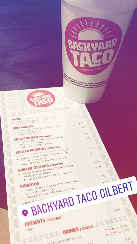 Photo Of Backyard Taco   Gilbert, AZ, United States. Menu