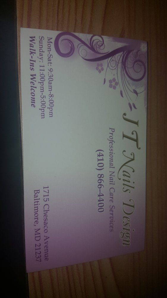 Jt Nails - Nail Salons - 1715 Chesaco Ave, Rosedale, MD - Phone ...