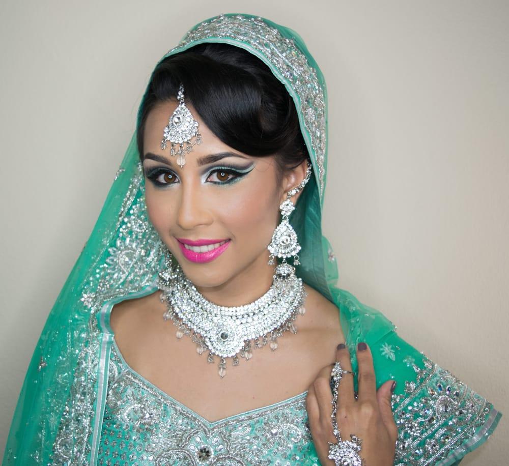 Trendy bridal headpiece - Photo Of Trendy Yusufi Fremont Ca United States Indian Bridal Makeup